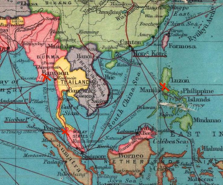 Bartholomew's route chart of the world. - 1940