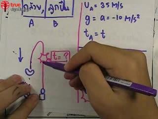 การเคลื่อนที่เชิงเส้น ข้อ 22 ตะลุยโจทย์ กลศาสตร์