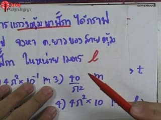 การเคลื่อนที่แบบ SHM ข้อ 6 ตะลุยโจทย์ กลศาสตร์