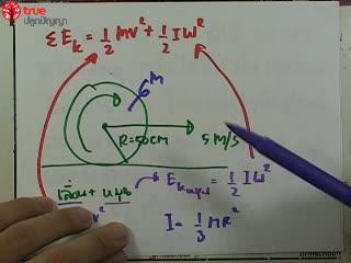 การเคลื่อนที่แบบหมุน ข้อ 7 ตะลุยโจทย์ กลศาสตร์