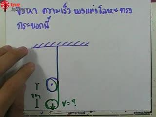 การเคลื่อนที่แบบหมุน ข้อ 14 ตะลุยโจทย์ กลศาสตร์