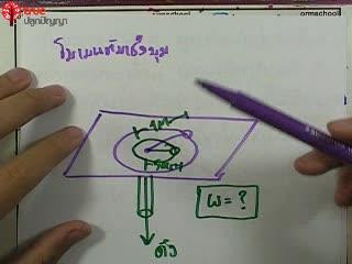 การเคลื่อนที่แบบหมุน ข้อ 15 ตะลุยโจทย์ กลศาสตร์