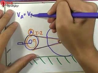 การเคลื่อนที่แบบหมุน ข้อ 22 ตะลุยโจทย์ กลศาสตร์