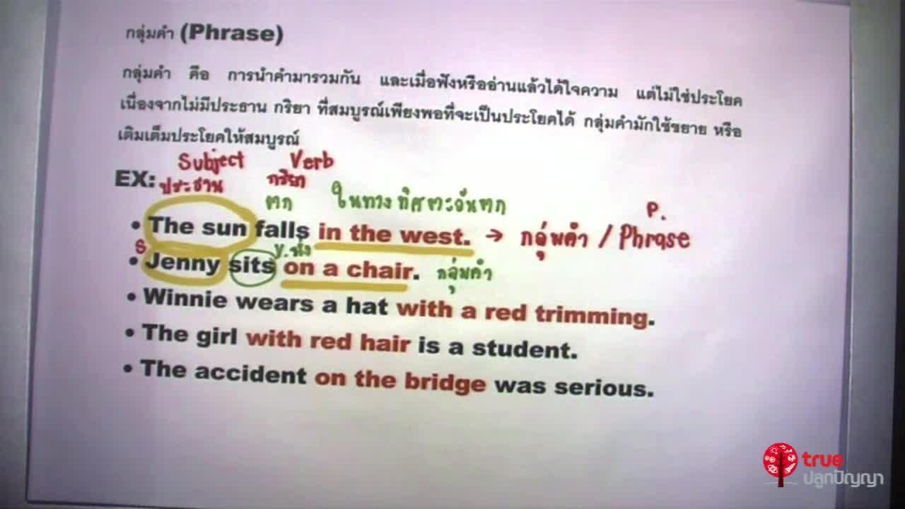 กลุ่มคำ (Phrase)