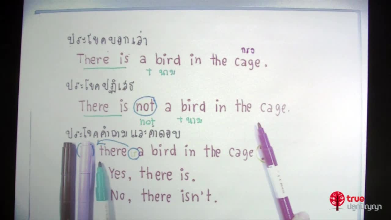การใช้ There is, There are