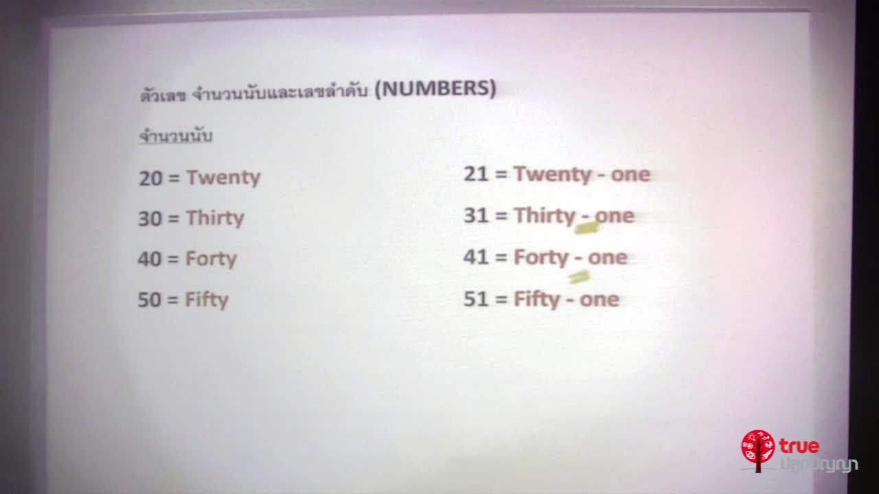 ตัวเลข จำนวนนับ เลขลำดับ (Numbers)
