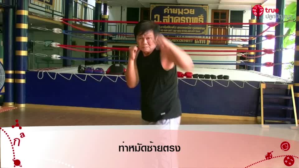 ศิลปะมวยไทย ตอนที่ 2  การออกหมัด 1-2