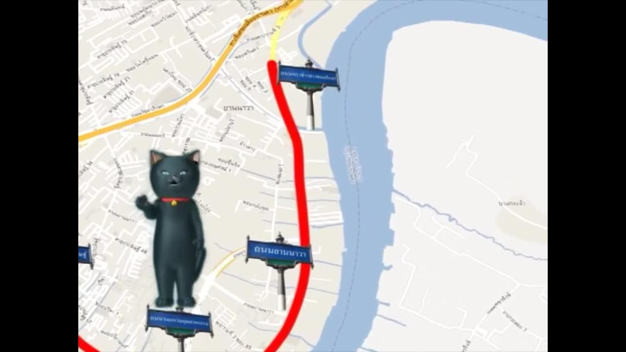 แมวเหมียวเล่าเรื่องไทย ตอน ถนนพระรามที่สาม