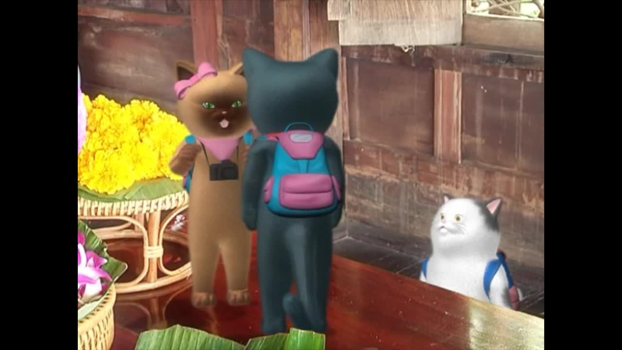 แมวเหมียวเล่าเรื่องไทย ตอน ถวายพุ่ม