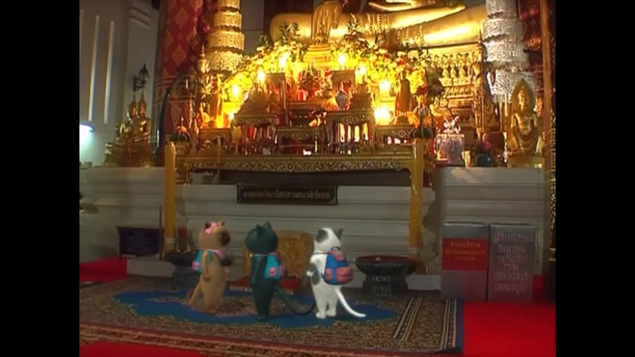 แมวเหมียวเล่าเรื่องไทย ตอน ม้าหมู่