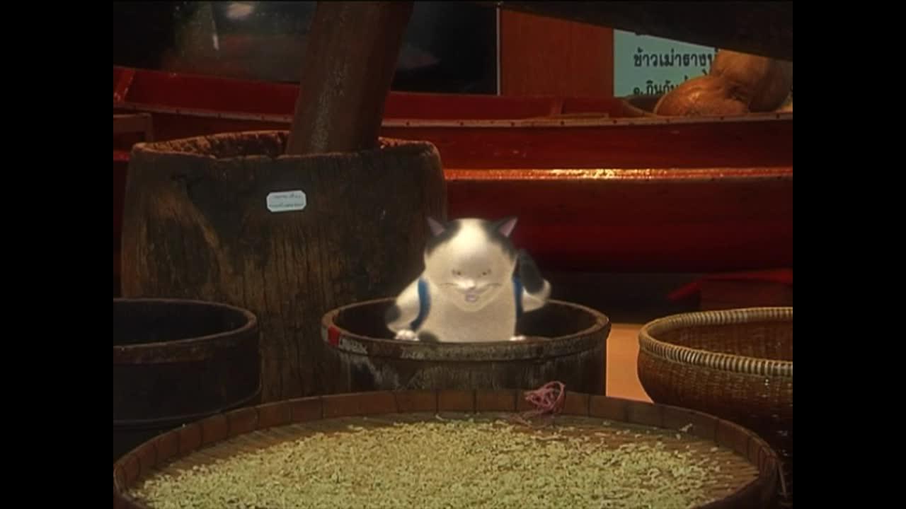 แมวเหมียวเล่าเรื่องไทย ตอน ข้าวตอกข้าวเม่า