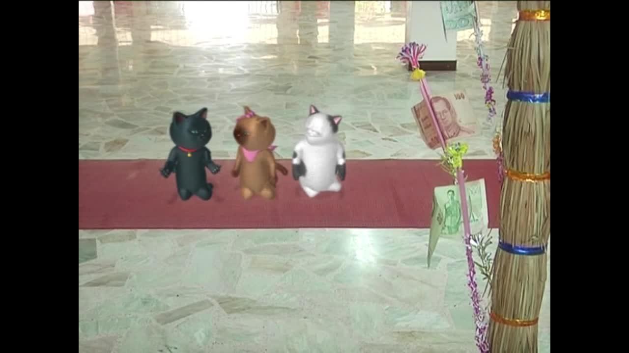 แมวเหมียวเล่าเรื่องไทย ตอน ต้นเทียนติดกัณฑ์เทศน์