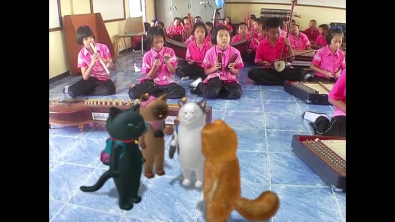 แมวเหมียวเล่าเรื่องไทย ตอน เครื่องดนตรีไทย