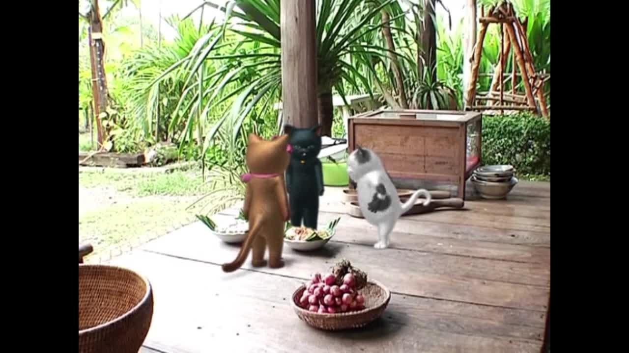 แมวเหมียวเล่าเรื่องไทย ตอน ขนมต้มแดงต้มขาว