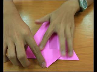 สอนพับกระดาษให้เป็นกระต่าย