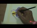 การเขียนภาพดอกไม้ด้วยคู่สีตรงกันข้าม