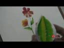 การพิมพ์ภาพเป็นรูปดอกไม้