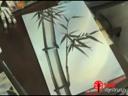 การเขียนต้นไผ่ ตอน การเขียนต้นไผ่แบบที่มีพื้นหลังแบบแนวตั้ง