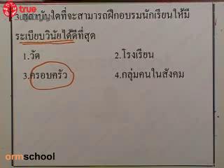 ข้อสอบสังคม เข้าม.1 ชุดที่1 ข้อที่ 3