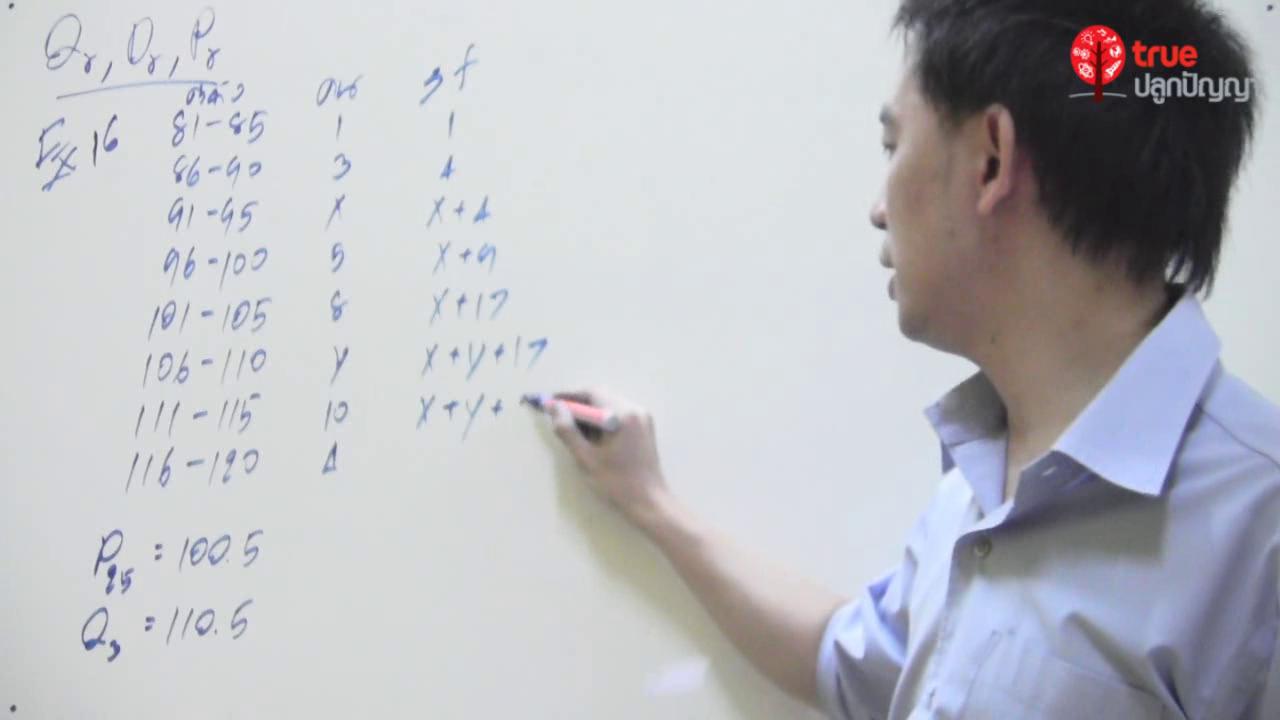 คณิตศาสตร์ ม.6 เรื่อง สถิติ ตอนที่ 5